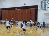 バスケット部の交流試合の見学