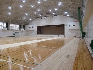 体育館床修繕1
