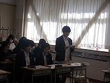 発言をするクラス委員