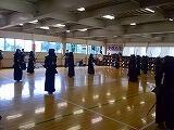 剣道部の練習風景