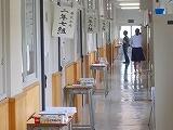 面談中の廊下