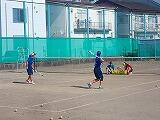 ソフトテニスの様子