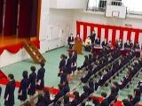卒業生の入場