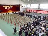 入学生の入場