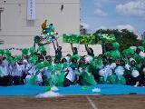 緑団の応援