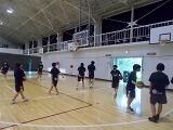 体育館のバスケ部